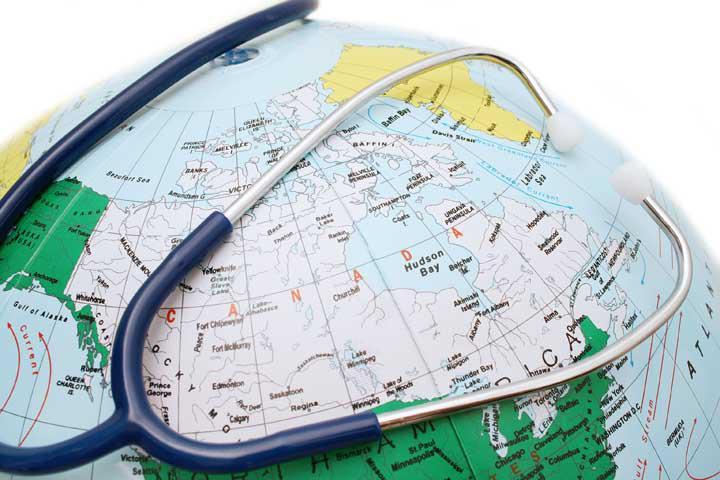 статоскоп на глобусе
