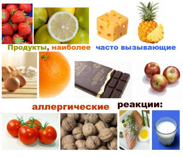 виды пищевых аллергенов