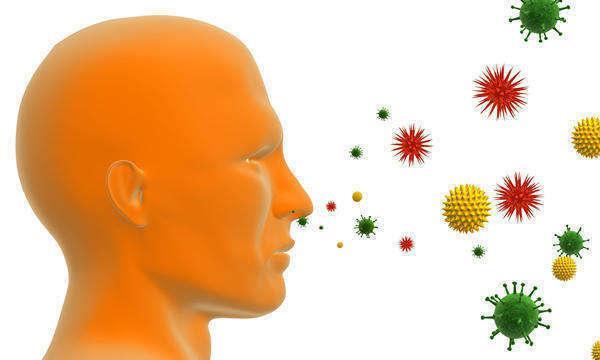 иллюстрация распространения микробов