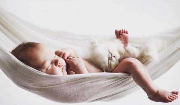 младенец в гамаке