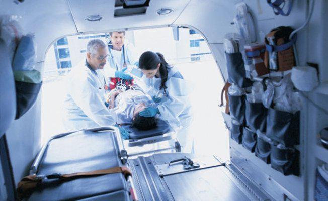 вид из машины скорой помощи