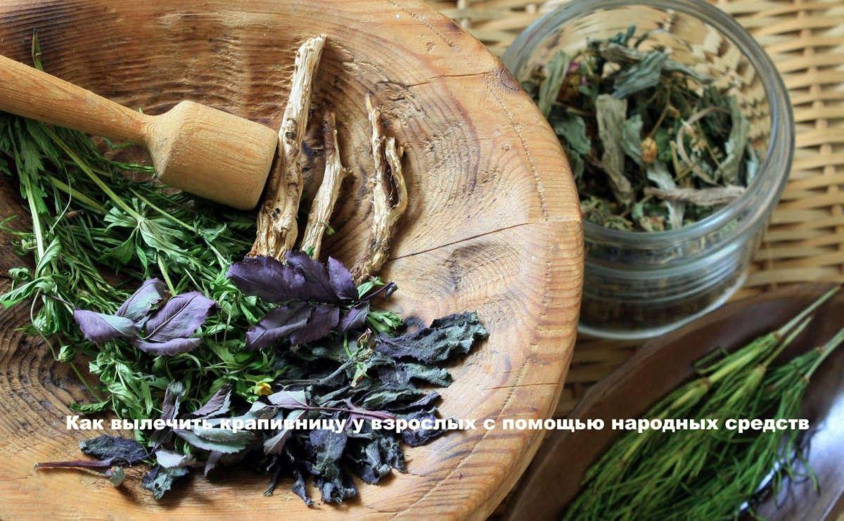 Травы в деревянной тарелке