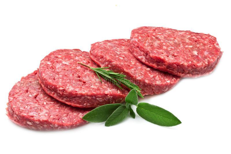Мясо на белом фоне