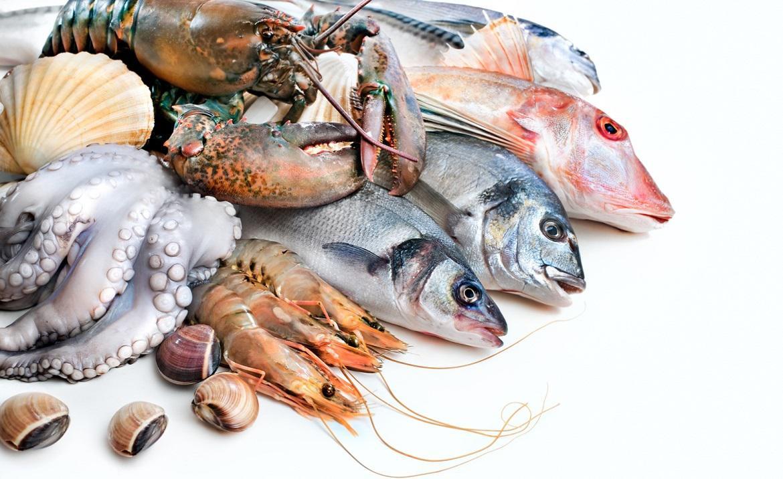 Морепродукты с рыбой