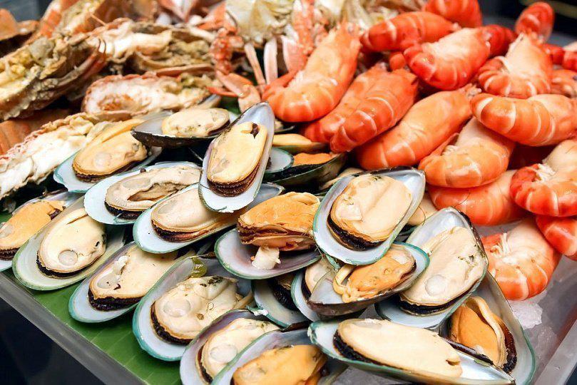 Морепродукты и креветки