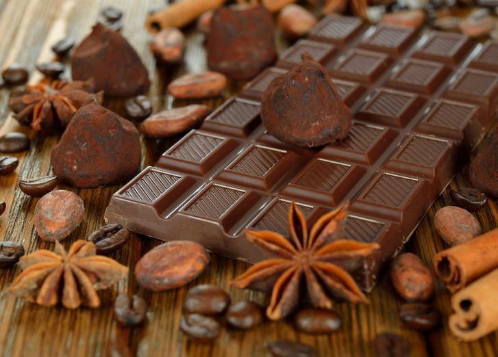 Шоколад и кофейные зерна