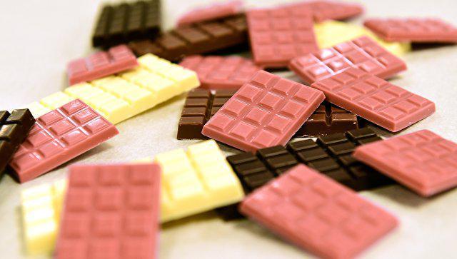 Разноцветный шоколад