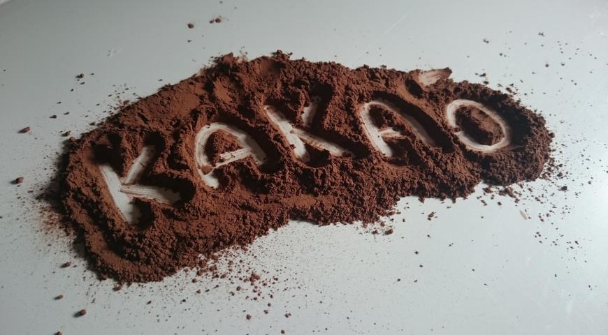 Надпись Какао