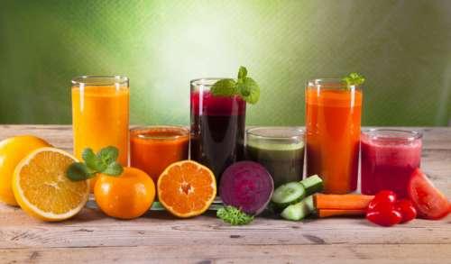 Различные виды натуральных соков